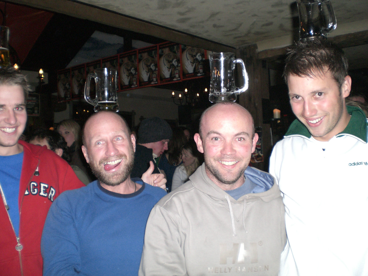 Housemates on the town. Buffalo Bar, Queenstown