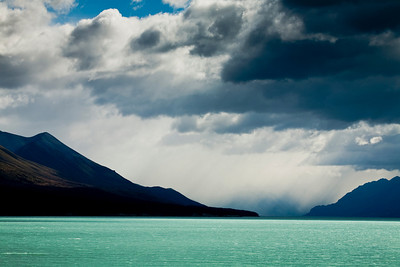 Storm over Lake Pukaki.