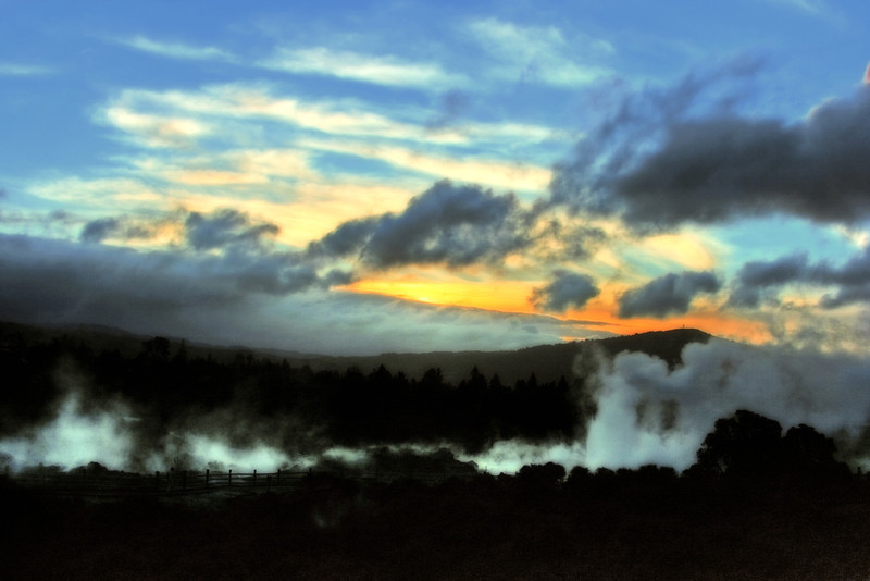 Rotura at sunset