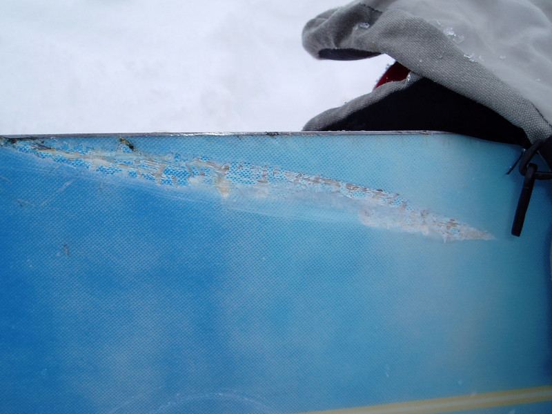 Ohau. Board damage