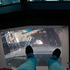 I am standing on a see through panel in the floor of the viewing gallery at the top of Sky Tower in Auckland. So don't zoom in if you are afraid of heights. Yes, those are cars below. Yes, those are my feet.