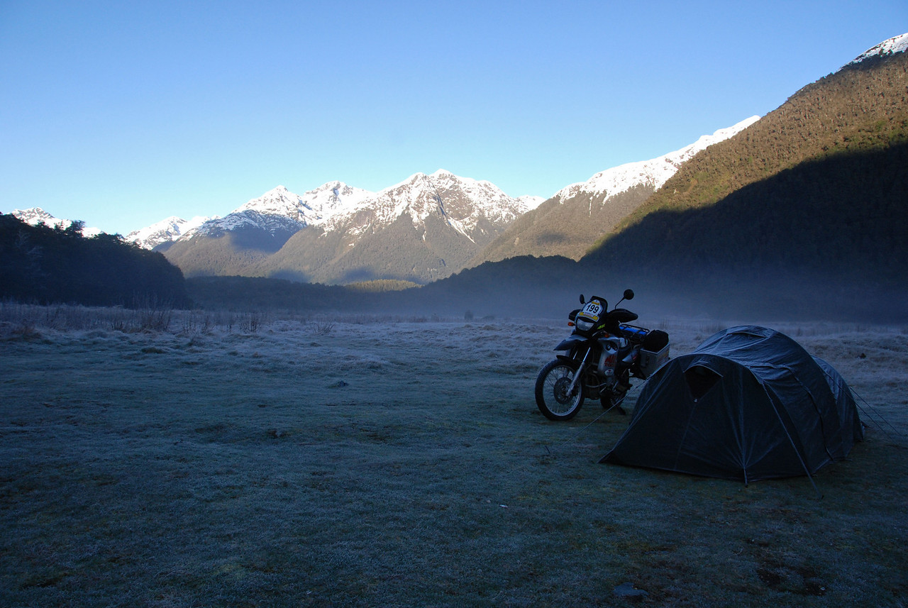 Cascade Creek DOC campsite. Te Anau - Milford Road