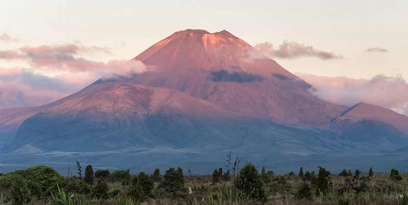 Sunset hits Mt. Ngauruhoe (Mt. Doom - LOTR), Tongariro National Park