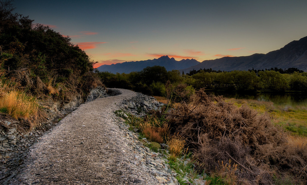 The Glenorchy walking path. The town has constructed a 5 mile walking path that winds it way through wetlands and various ponds. Very peaceful area. — in Glenorchy, New Zealand.