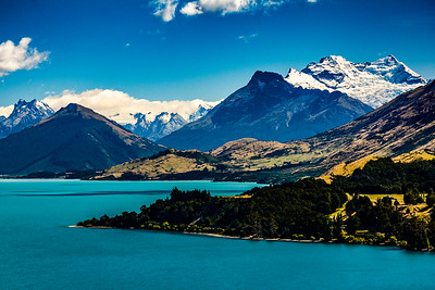 Head of Lake Wakatipu, Queenstown, NZ