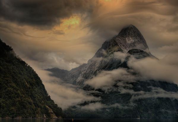 Mitre Peak in Milford Sound New Zealand