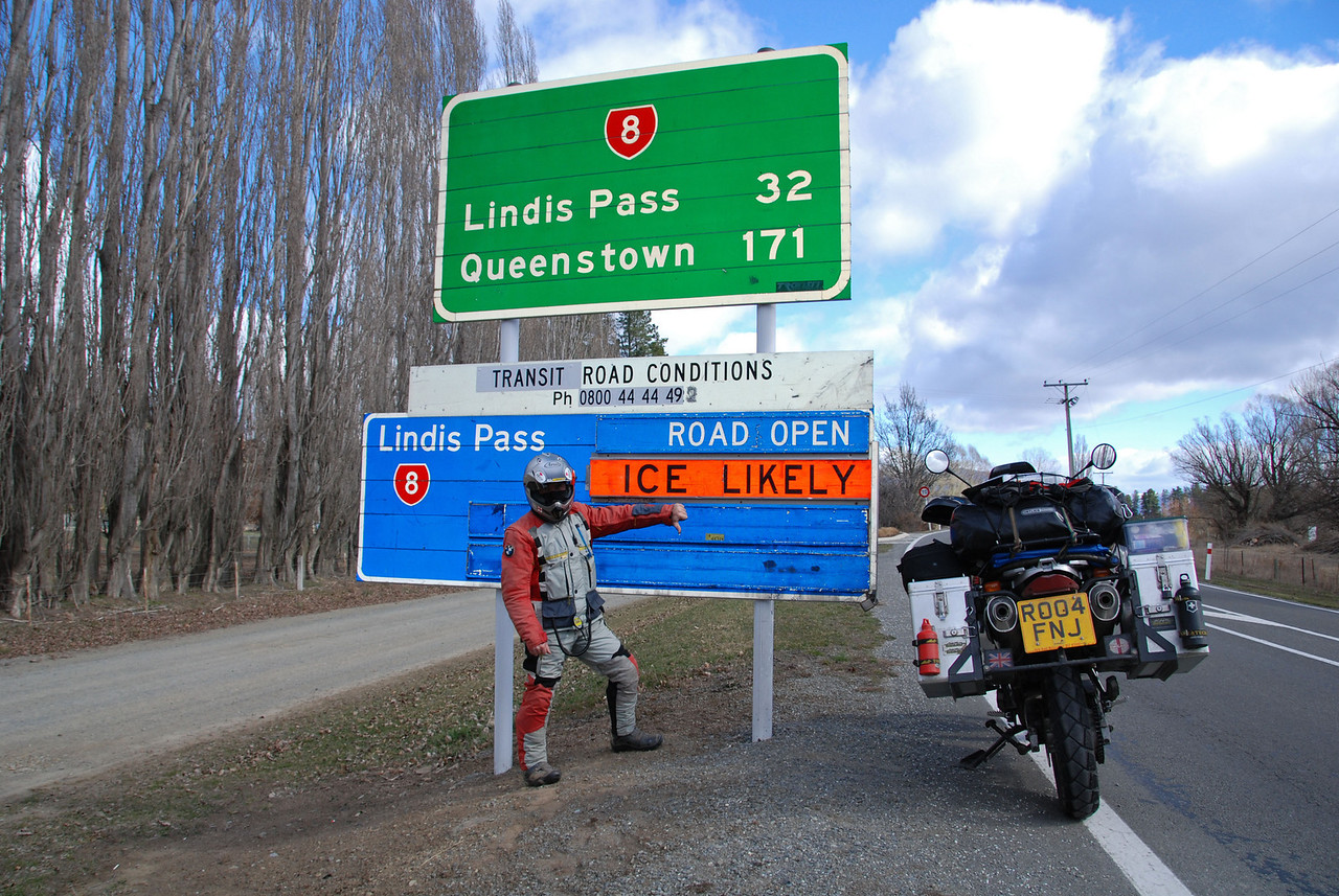 Not your favorite sign when riding a motorcycle!