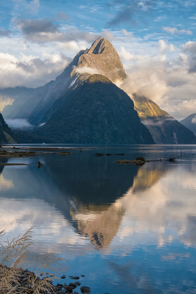 Mitre Peak.  Prominent landmark on Milford Sound