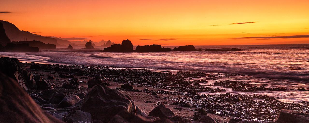 Punakaiki, Sunset