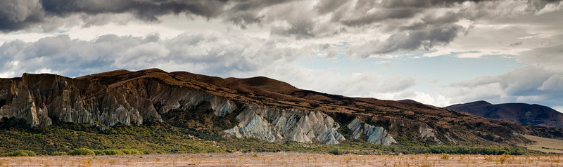 Limestone cliffs near Lake Pukaki.