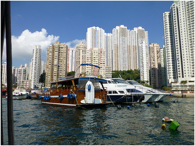 Moorings at Aberdeen yacht club are about 1800HKD per month for boats over 20 meters. About £160 per month.