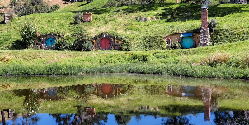 Hobbit homes in the Shire