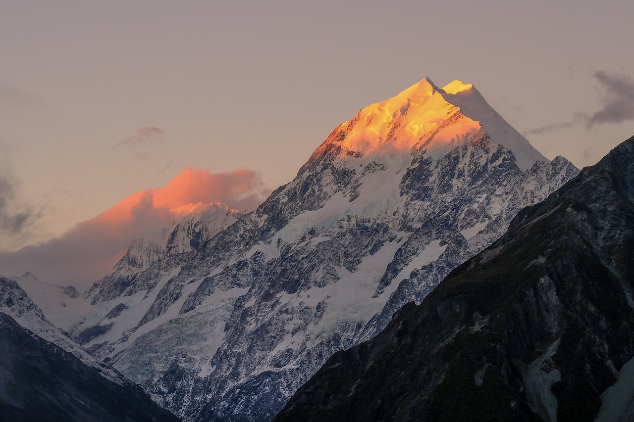 Mt. Cook, sunset