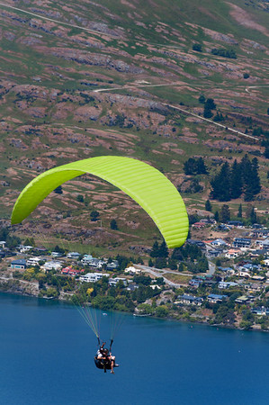Paragliding over Queenstown.