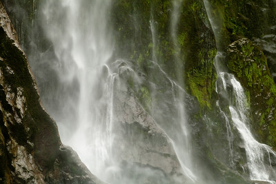 A waterfall in Milford Sound.