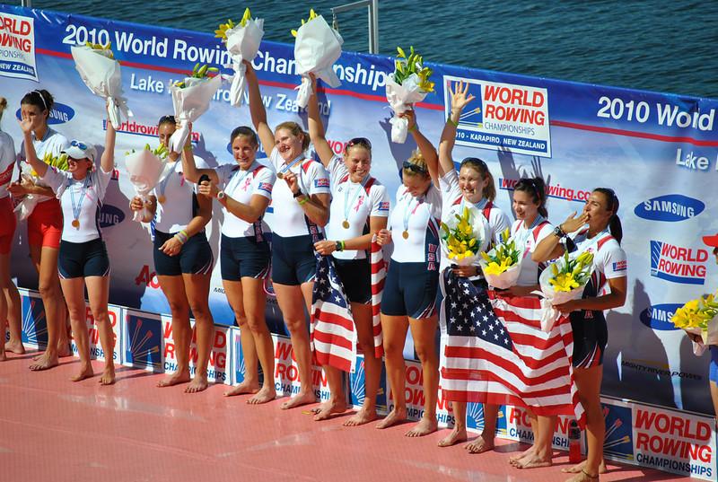 World Champions US Women's 8+, Lake Karapiro