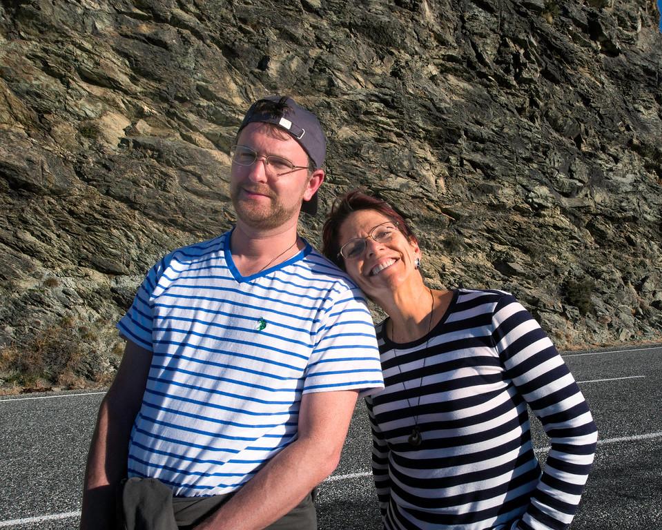 Scott Kublin and Karen Hutton, posing for the camera.