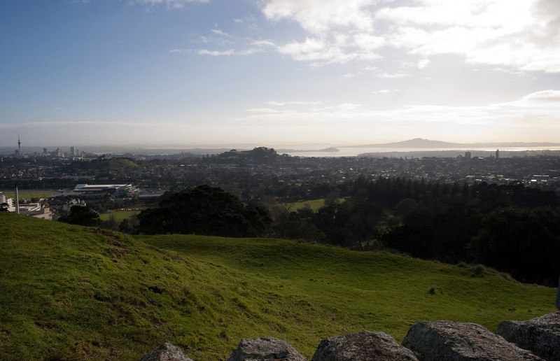Green and rugged landscape, extinct volcanoes, and the beautiful city of Auckland...couldn't ask for a better introduction to New Zealand on my first full day here.