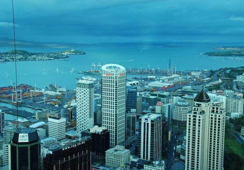 View from the Sky Tower, Auckland