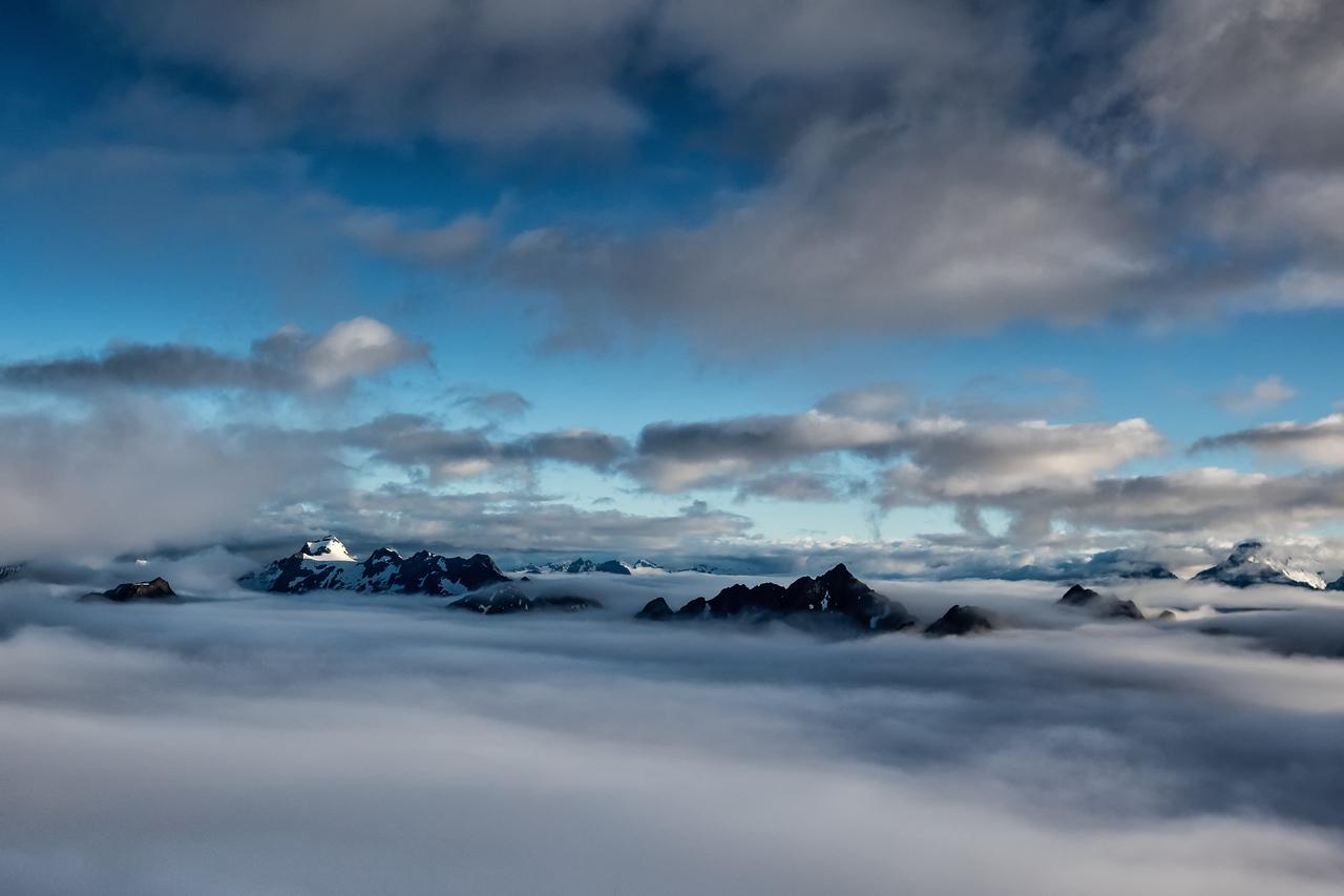 Mt. Aspiring in the Clouds