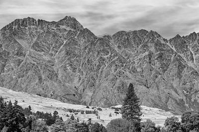 """The Remarkables"".  Mountains visible from Queenstown, NZ.  aka ""the Misty Mountains"" in The Lord of the Rings movies"