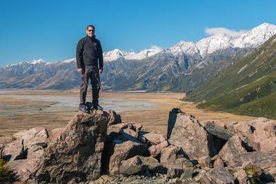 John - Tasman Glacier trail