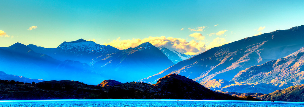 Mount Aspiring looking across lake Wanaka.