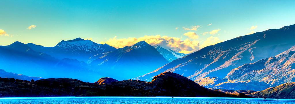 Mount Aspiring looking across lake Wanaka.