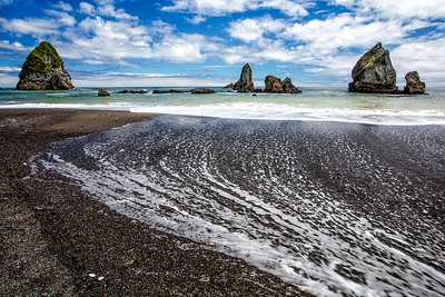 Black Beach Tasman Sea