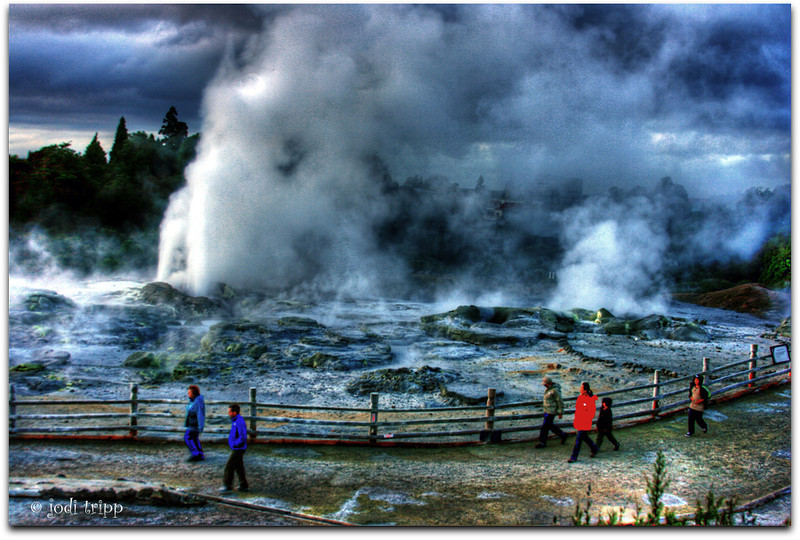 Waikorohihi Geyser, Rotura, New Zealand