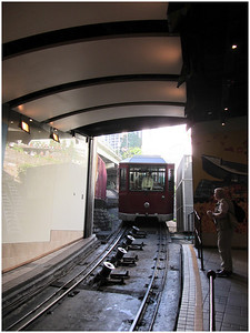 The Peak Tramway is a funicular railway in Hong Kong, which carries both tourists and residents to the upper levels of Hong Kong Island. Running from Central district to Victoria Peak via the Mid-Levels, it provides the most direct route and offers good views over the harbour and skyscrapers of Hong Kong. 4 million people ride the Peak Tram annually.