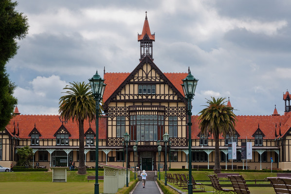 The Rotorua Museum of Art and History at Government Gardens.