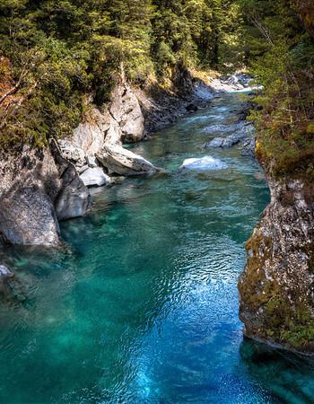Blue Pools, Aspiring National Park, New Zealand