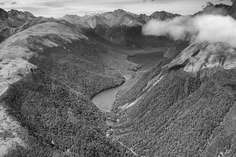 aerial view - Milford Sound to Queenstown