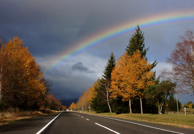 Fall rainbow Lake Taupo
