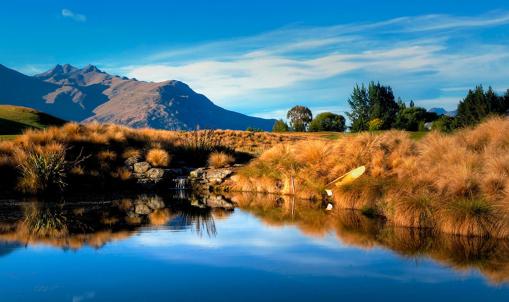 Early morning at The Hills.  arrow town New Zealand.