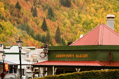 The Arrowtown Bakery. Arrowtown is an historic gold mining town and is now known for its beautiful fall colors.
