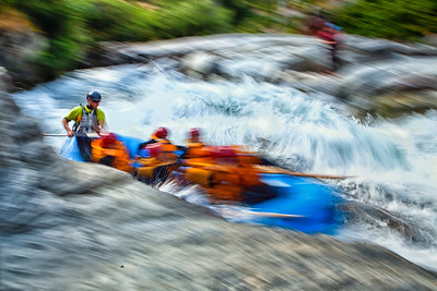 Whitewater Rafting in Queenstown on the Shotover River.