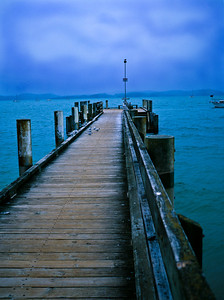A dock on New Zealand's Coromandel Peninsula