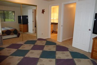 Master Bedroom looking into the master bathroom