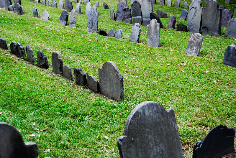 Stones at the Granary Burying Ground