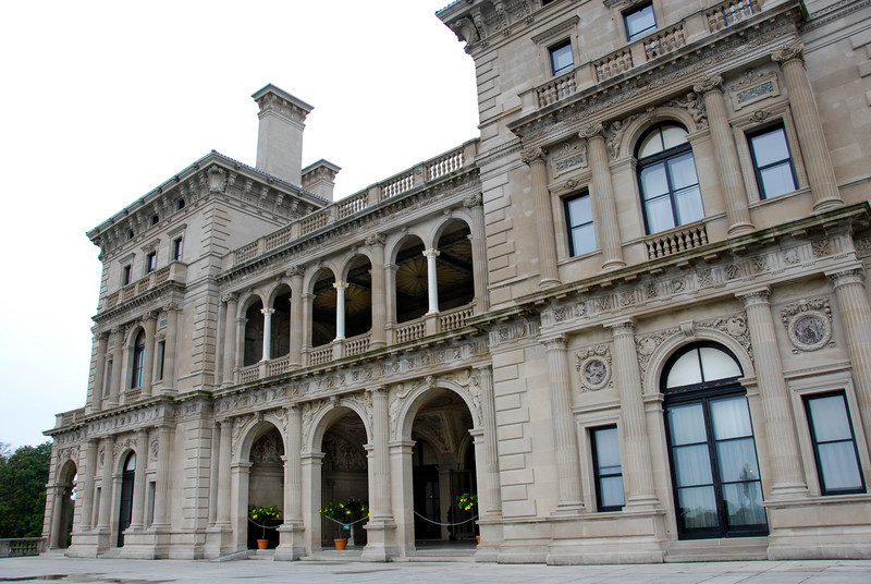 Back of the Breakers mansion in Newport.