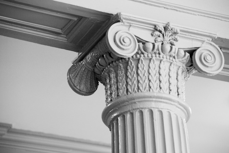Column in the MA State House. This is significant because it was carved out of a single tree.