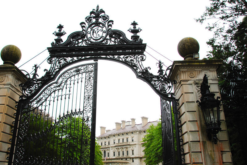 Entrance to the Breakers mansion in Newport, RI. The wrought iron on these mansions is amazing.