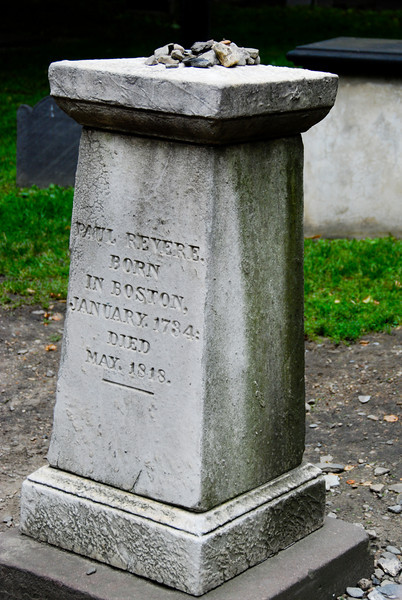 Paul Revere's grave. He was impressively old.