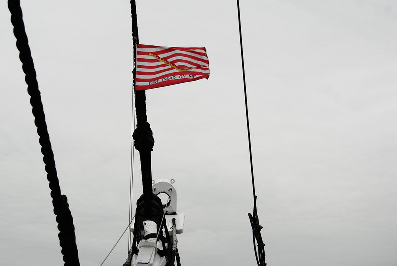 Flag on the USS Constitution