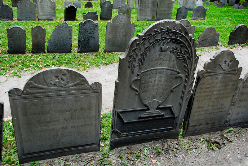 More examples of gravestones at the Granary Burying Ground