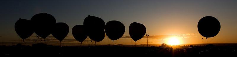 sunset balloons