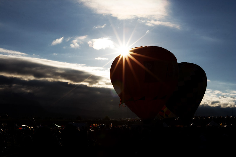 sunrise over balloons