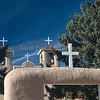 Adobe construction--St Francis de Asis in Taos.